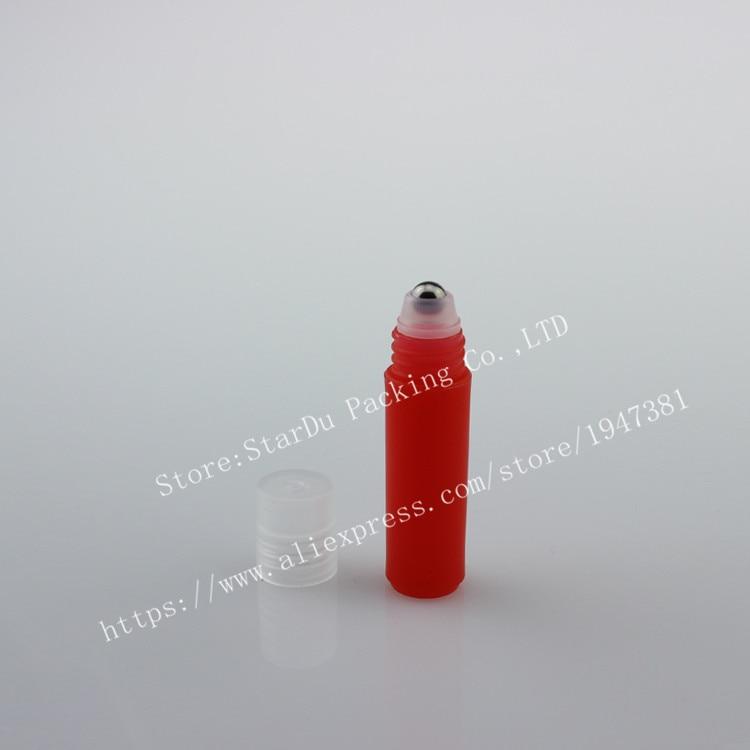 Free shipping 500pcs 2ml plastic roll on bottles for essential oils, roll-on refillable perfume bottles