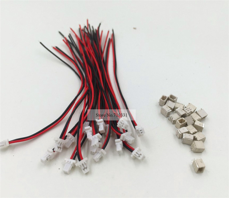 10 SETS Mini Micro SH 1.0 2-Pin JST Connector with Wires Cables 100MM 20 sets mini micro jst 2 0 ph 7 pin connector plug with wires cables 100mm 10cm
