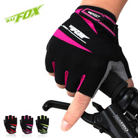 BATFOX 2017 велосипедные перчатки  мужские и женские спортивные перчатки с открытыми пальцами  летние дышащие MTB дорожные велосипедные перчатки ...