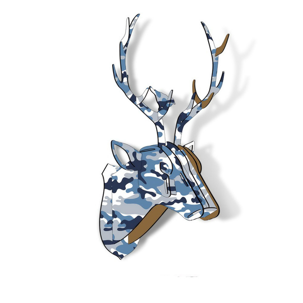 Limit Animal Christmas Reindeer Head Wooden Wall Hanging For Living - Hiasan rumah - Foto 4