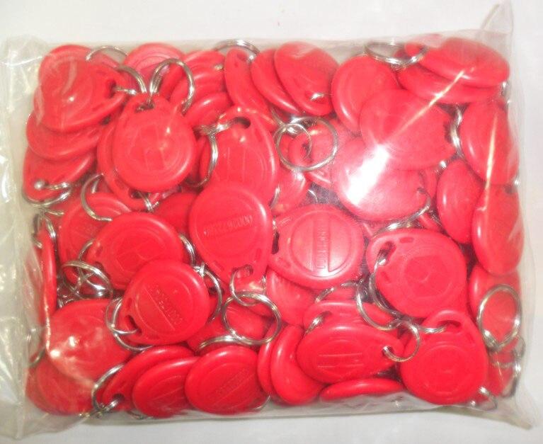 8 Color 100pcs/Lot RFID Tag Proximity ID Token Tag Key Ring 125Khz RFID Card Black Red Green Gray Yellow Blue