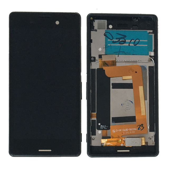 Black LCD Screen display Touch Digitizer Assembly+Frame For Sony Xperia M4 Aqua E2303 E2306