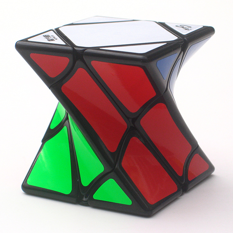 (AOSST) HOT Curve Finger Skew Rubik's Cube Magic Cube Fluorescent sticker Cone Puzzle Cubes Special shaped Cube Educational Toys x cube 8 layers 86mm magic cube puzzle cubes educational toy special toys with gift box