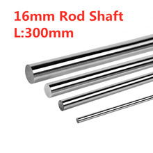 2Pcs Stainless Steel Rod Shaft Linear Guide Round Shaft Length 300mm * Diameter 16mm 3d Printer Accessories CNC