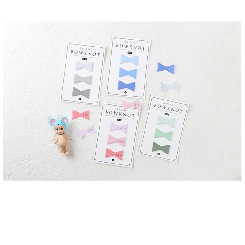 24 pcs/Lot Cute Bowknot sticky note and memo pad Book marker Removable Post sticker Stationery Office School supplies F812