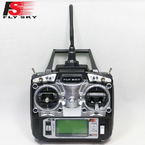 FlySky 2.4G 6CH Channel FS-T6 Transmitter + Receiver Radio System Remote Controller Mode1/2 LCD W/ Rx RC Helicopter Multirotor fm190 0 5 lcd 206 ch car radio fm transmitter w controller for iphone black 9 26v