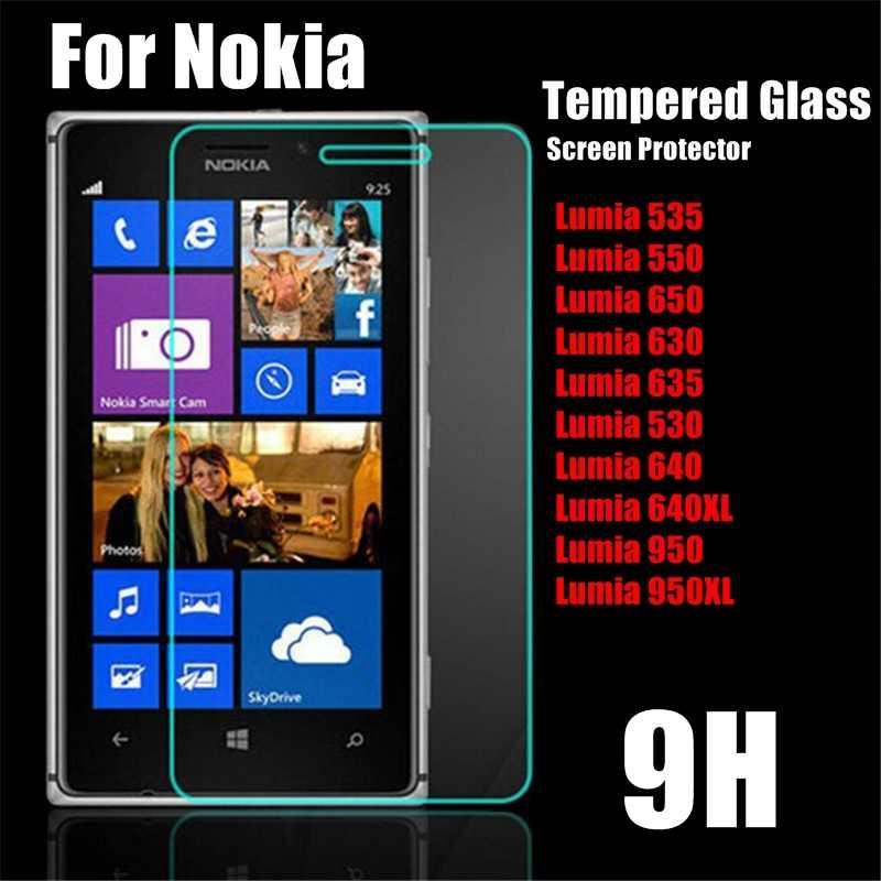 強化ガラス用microsoft lumia 535 550 650 630 635 530スクリーンプロテクター用ノキアlumia 640 950 xl 640XL 950xlフロントフィルム