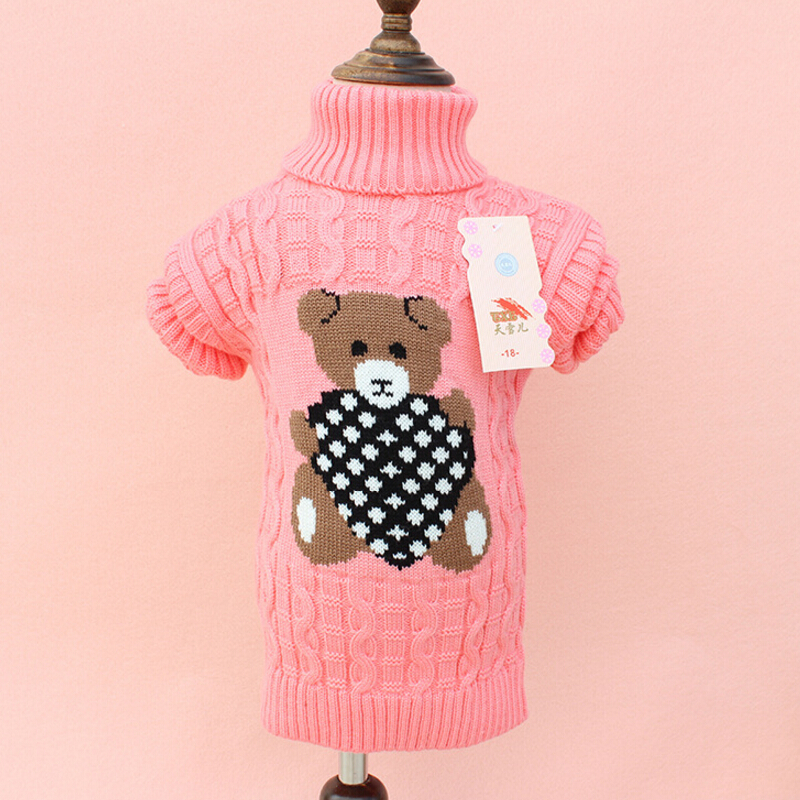 YZXY 2017 Cartoon Baby Girls Sweater jumper Autumn Winter Kids Knitted Pullovers Turtleneck Warm Outerwear Boys Sweater