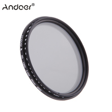 Andoer 49mm 82mm ND Filter Fader Neutral Density Adjustable ND2 to ND400 Variable Filter for Canon Nikon DSLR Camera 58mm