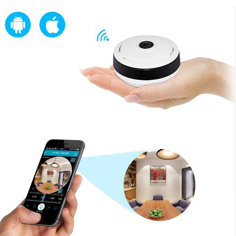 HD 960P HD FishEye IP Camera 360 degree Full View VR Camera 1.3MP Network Home Security Panoramic IR WiFi Camera nicefeel fc169 oral irrigator dental flosser water jet teeth care cleaner oral hygiene set 7 tips 600ml irrigation