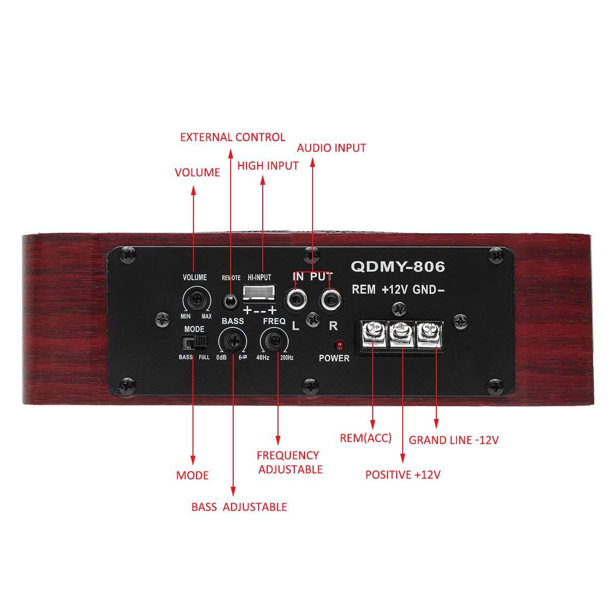 600 W 8 Zoll Holz Ultra-dünne Auto Stereo Subwoofer Auto Audio Auto Lautsprecher Universal Lautsprecher Subwoofer Auto Unter sitz Gehäuse