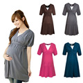 Ladies Maternity Cotton Clothes For Pregnant Women Pluse Size Top Pregnant Dress Blouses Shirts 2015 -- MKB004 PT15 Wholesale