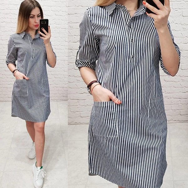 Women Casual Striped Print...