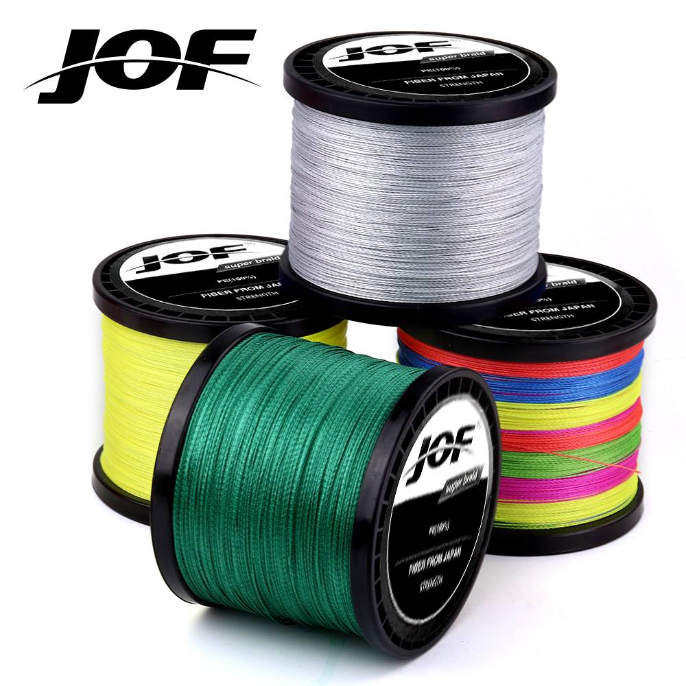 4 Strands 1000M 500M 300M JOF PE Multicolor Braided Fishing Line 4 Weave Superior Extreme Strong 100% SuperPower(China)