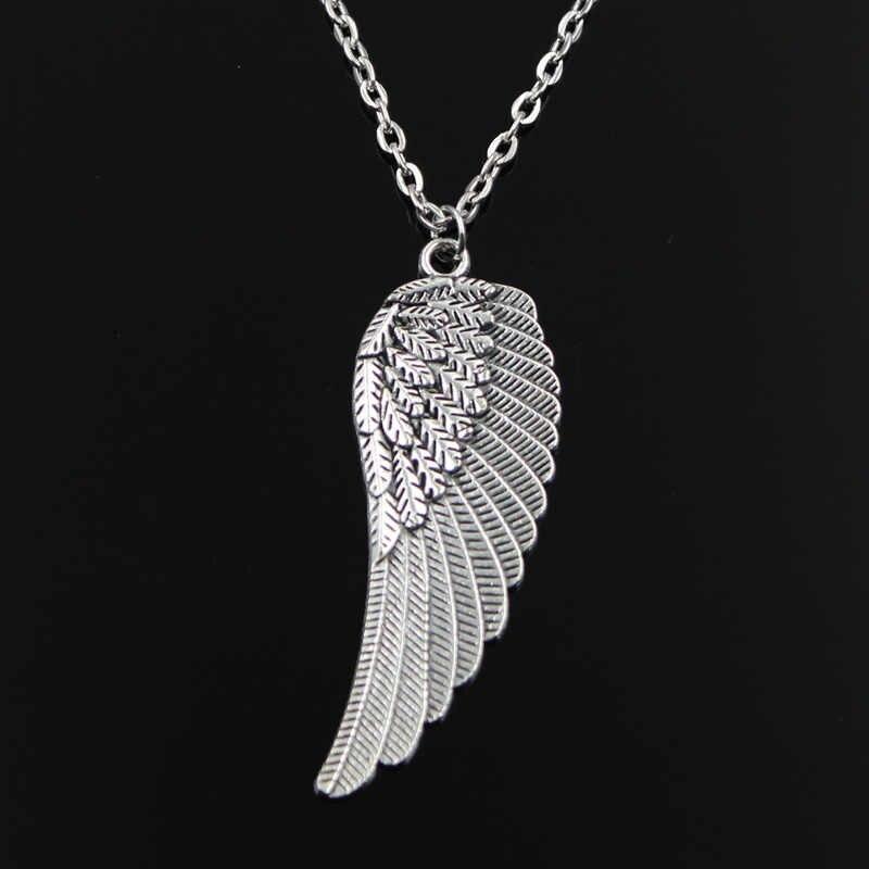 جديد الموضة أجنحة الملاك المعلقات جولة الصليب سلسلة قصيرة طويلة رجل إمرأة مجوهرات قلادة من الفضة هدية