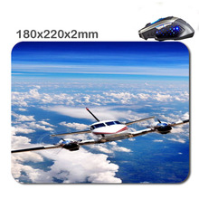 HOT SALES Custom Antiskid  3 D Plane  Mouse Pad 220 x180x2mm Office Accessory Tablet And Gift