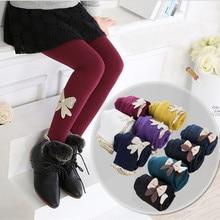 купить Girls Leggings Autumn Winter Pants for Kids Warm Fleece Leggings for Girl 10 Colors Baby Girls Pant Children Clothing 2-12 years по цене 592.04 рублей