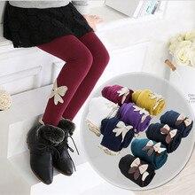 Girls Leggings Autumn Winter Pants for Kids Warm Fleece Leggings for Girl 10 Colors Baby Girls Pant Children Clothing 2-12 years