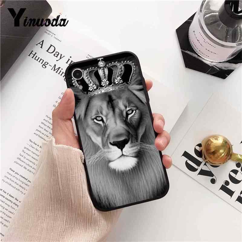 Yinuoda Gấu Nga Hổ Sư Tử Di Động Mềm Ốp Lưng Điện Thoại Cho iPhone 8 7 6 6S 6Plus 5 5S SE XR X XS Max 11 11pro 11 Promax