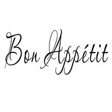1PC Vinyl Wall Stickers Quote Bon Appetit Dinning Room Decor Kitchen Decals Art  baby room bedroom sticker for kids free shippin