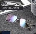 Титановые очки металлический каркас очки masculino маркос де lentes opticos модный бренд дизайнер очки кадр óculos de sol