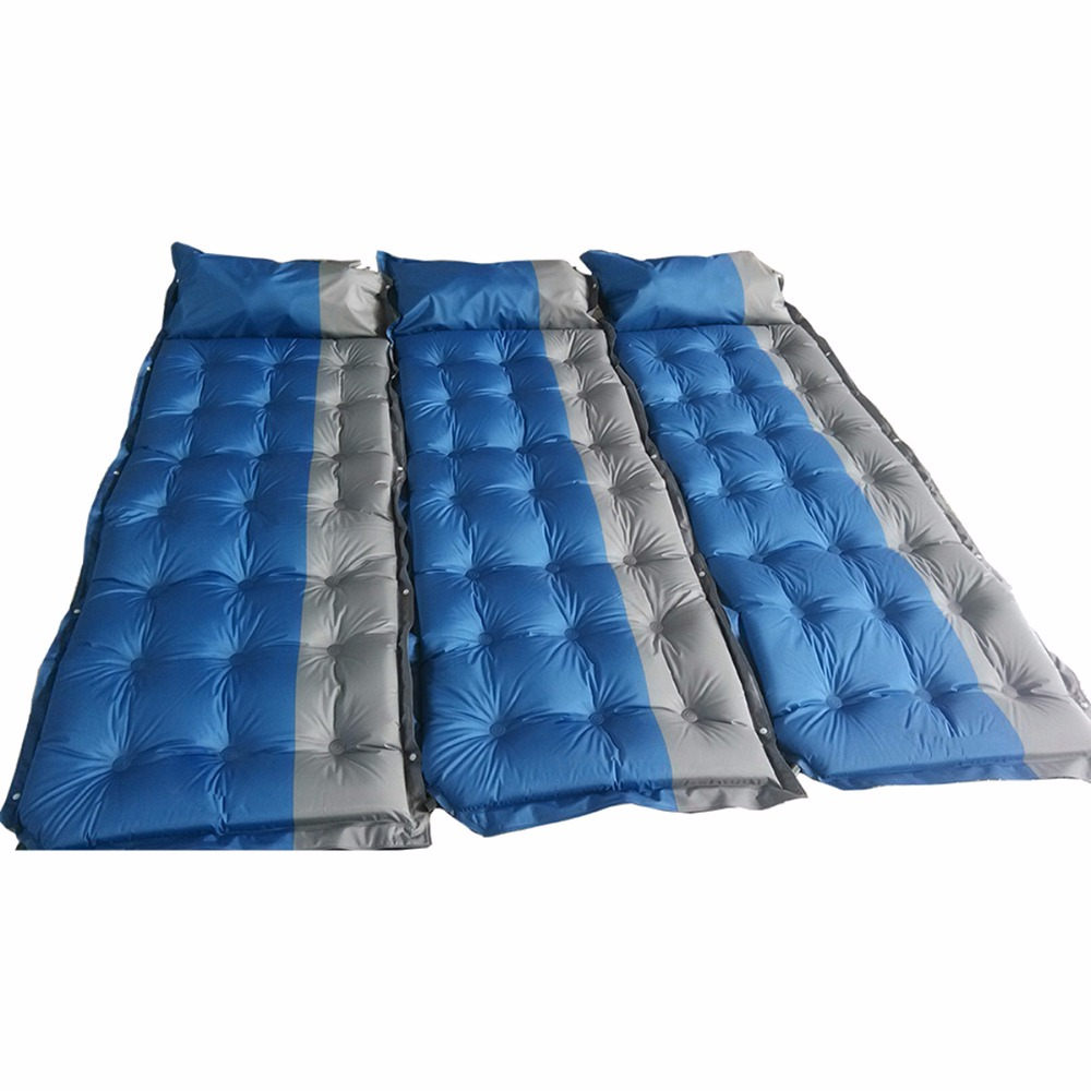Nosii Automatic Inflatable Mattress Camping Mat Outdoor PVC Cushion Air Mattress Sleeping Pad With Pillow durable thicken pvc car travel inflatable bed automotive air mattress camping mat with air pump