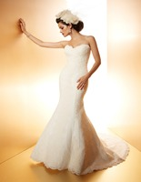 Vestidos De Noiva Plus Size 2015 Cheap Elegant Sexy Backless Mermaid Wedding Dress Vintage Bridal Gowns