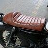 Vintage Motorcycle Cafe Racer Seat Brown Hump Saddle Locomotive For Kawasaki Z750 W650 Suzuki GT380 T250