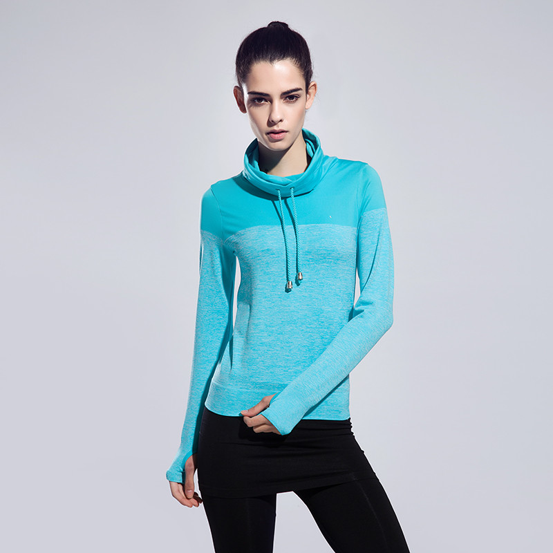 New Arrive font b Women b font High Collar Sports Jacket Female Yoga Running Fitness Clothes