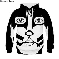 Hip Hop 3D Hoodie Cute Face Mask Print Hoodie Sweatshirt Men's Winter Warm Jacket Harajuku Street Fashion Jacket