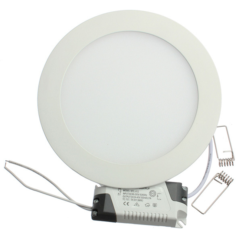 Panel de luz LED ultrafino 3W 4W 6W 9W 12W 15W 25W controlador incluido AC85-265V lámparas empotradas de Panel de techo para iluminación interior