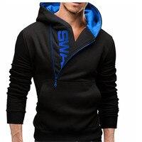 2018 Fashion Hoodie Men S Hip Hop Brand Solid Color Hooded Sleeve Side Zip Top Cardigan