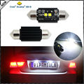 "(2) Xenon White 2-CRE'E 1.50"" 36mm 6418 C5W CANbus LED Bulbs, Error Free For Audi BMW Mercedes Porsche VW License Plate Lights"