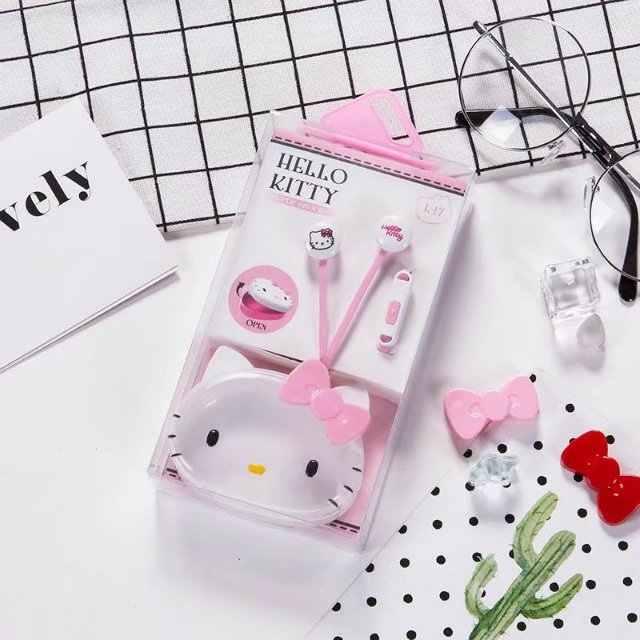 Olá kitty Fone de Ouvido Fone de ouvido fone de ouvido microfone MP4 MP3 KX-E18 Portátil Do Telefone Móvel iphone