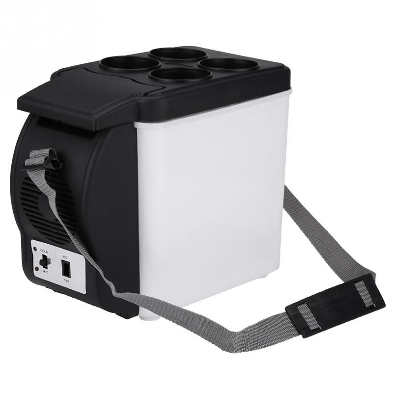 6L Capacity 12V Portable Mini Car Fridge Electric Cooler and Warmer for Travel Camping