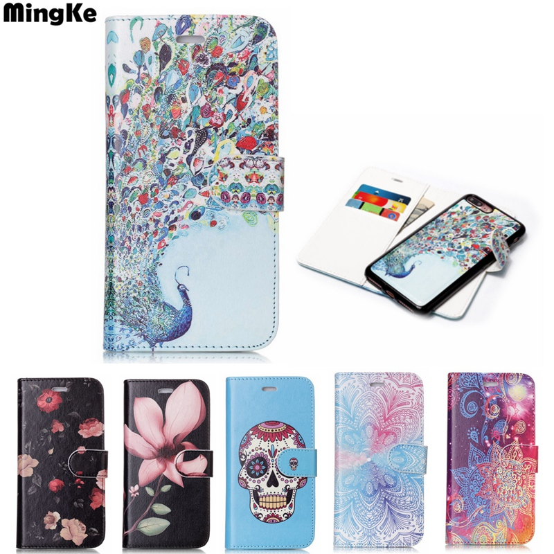 Fashion 2 USE For iphone 7 Case Flip Leather Embossing For iphone X Case PU For iphone 8 8 plus Cases I6 6S 6 6SPlus Phone Cover