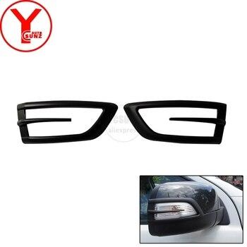 YCSUNZ ABS negro lado cubierta del espejo de coche accesorios para automóviles para ford everest Ranger T7 2015, 2016, 2017, 2018 espejo retrovisor cubre