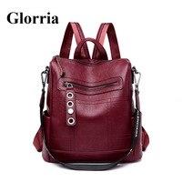 Glorria 2019 Ретро дизайнерские рюкзаки женские кожаные рюкзаки женские школьные сумки для подростков девочек Дорожная сумка