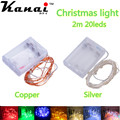 3 AA Battery Powered 2M 20led Christmas Holiday Wedding Party Decoration Festi LED Copper Silver Wire String Fairy Lights Lamps