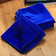Nuevo Yetaha 6 uds 30x30cm Auto cuidado de limpieza de microfibra toalla trapo lavado coche azul toalla suave para manos de detallado de coches coche estilo