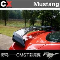 Apto para o Ford mustang CMST auto asa traseira spoiler Asa traseira em fibra de carbono de alta qualidade wing wing wing spoiler wing auto -
