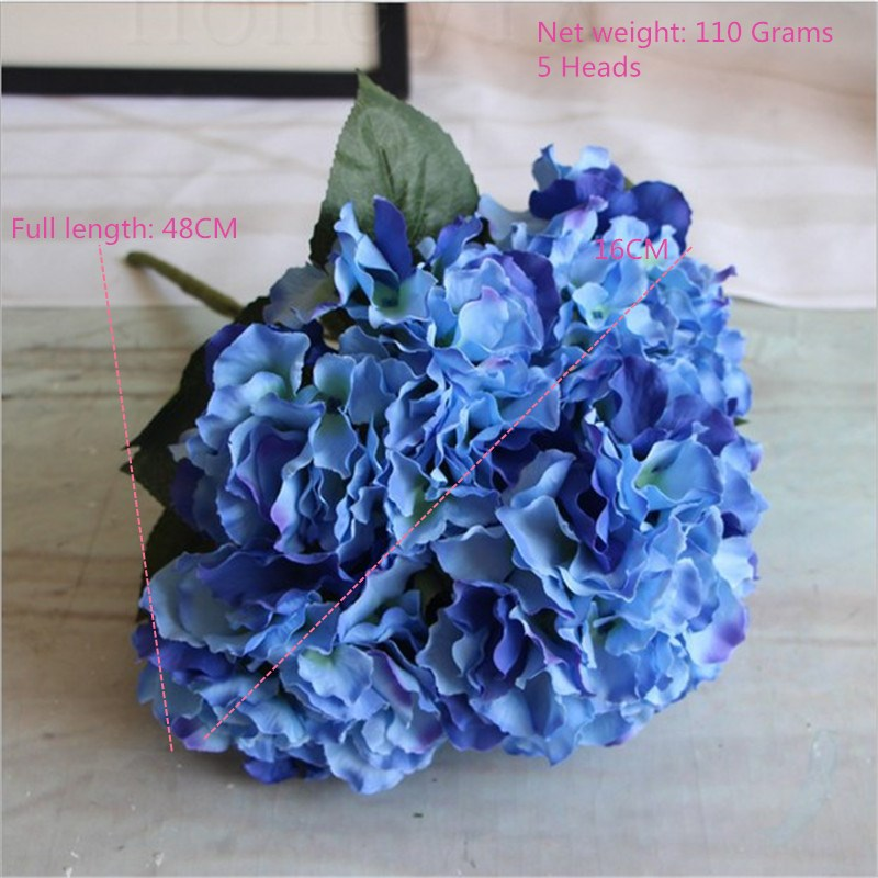 Sky blue artificial hydrangea silk flowers for wedding bouquet sky blue artificial hydrangea silk flowers for wedding bouquet flower arrangements 48cm 5 heads fast shipping in artificial dried flowers from home mightylinksfo