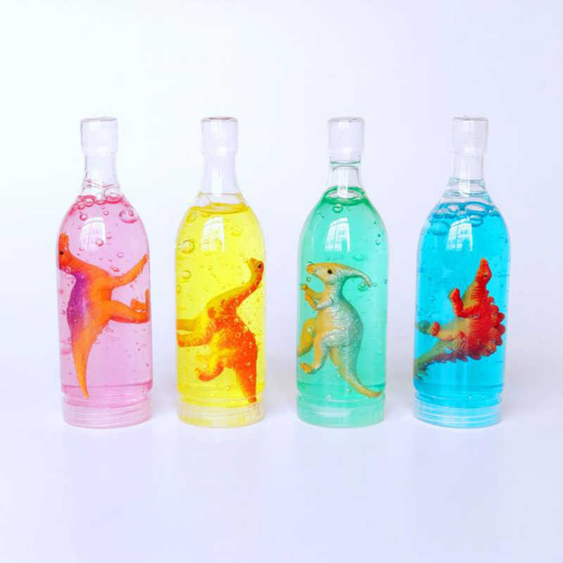 DIY slime Crystal Mud Wine Bottle Unicorn Dinosaur Transparent slime Extracting Color Clay Toy For Children's Gift