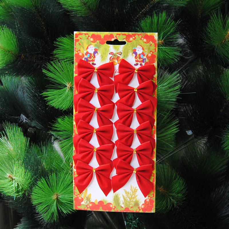 Aliexpress Buy Sales 1200pcslot Red Bows Christmas Tree Bow