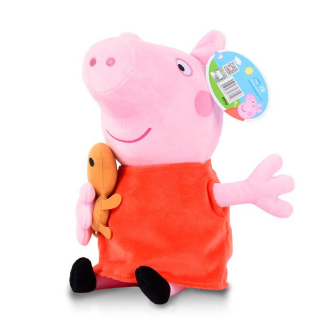 Peppa pig George pepa Pig Family Plush Toys 19cm Stuffed Doll Party decorations Schoolbag Ornament Keychain Toys For Children  4
