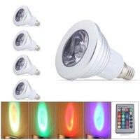 4x16 צבעים RGB צבע מלא הוביל הנורה מנורת אור LED זרקור שינוי זרקור E14 3 W RGB שלט רחוק חכמה תאורה עבור בית