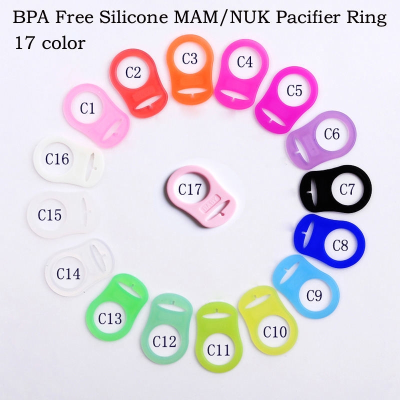 Baby Dummy Pacifier Holder Clip Adapter For MAM Ring 1PCS Silicone Button