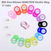 Suporte de chupeta infantil  clipe adaptador para mam ring 1 peça de silicone