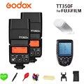 Godox TT350F 2 4G Беспроводной X Системы Миниатюрная лампа-вспышка с ttl HSS GN36 высокое Скорость 1/8000S для ЖК-дисплея с подсветкой Fujifilm Fuji Камера + Xpro-F