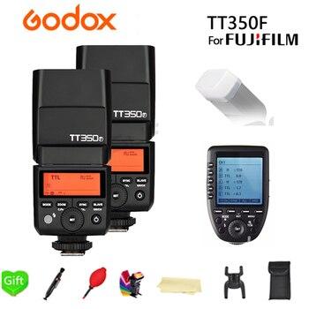 Godox TT350F 2.4G Wireless X System Mini Speedlite Flash With TTL HSS GN36 High Speed 1/8000S for Fujifilm Fuji Camera + Xpro-F